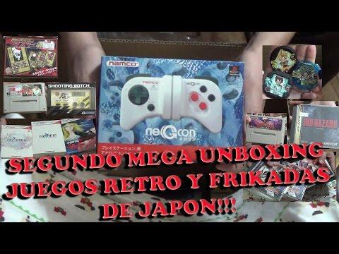 Segundo Retro Unboxing de Material Japones Juegos, Música, Figuras y Merchandising!