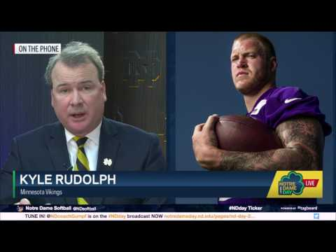 Interview with Kyle Rudolph - 2017 Notre Dame Day