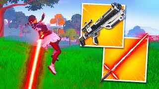 *NEW* BLASTER RIFLE + LIGHTSABER Gameplay in Fortnite! (Star Wars Update)