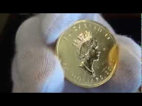 1/2 oz Gold Canadian Maple- Lightly Scratched, Random Year from APMEX