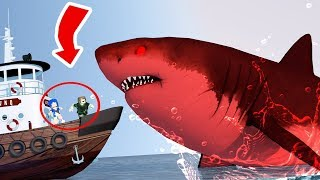 GIANT SHARK x GIANT BOAT l ROBLOX