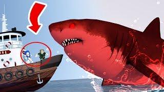 requin géant x bateau géant l ROBLOX