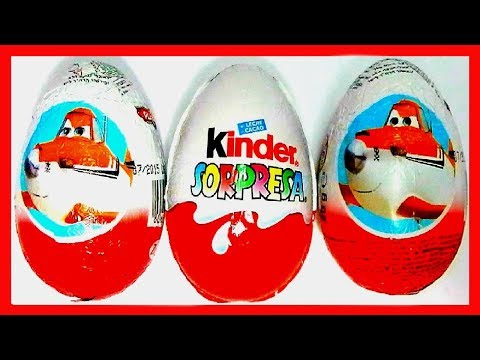 3 HUEVOS SORPRESA, 2 x AVIONES DE DISNEY PIXAR Y 1X MAGIC KINDER COLECCIÓN 2013. KINDER SURPRISE EGG Videos De Viajes