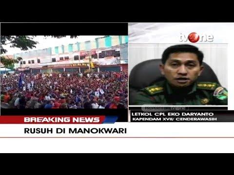 Kondisi Terkini Aksi Massa di Jayapura Pasca Kerusuhan Manokwari