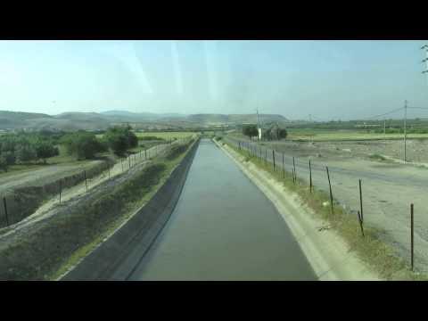 תעלת הע'ור הירדנית (תעלת עבדאללה) - ירדן, מעט לאחר היציאה מהמסוף של בית שאן