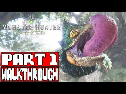 MONSTER HUNTER WORLD Gameplay Walkthrough Part 1 - No Commentary