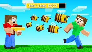 We Found BEE WEAPONS In Minecraft! (awesome)
