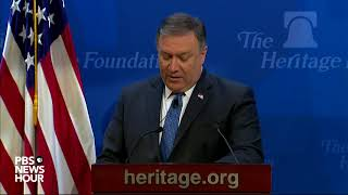 WATCH: Secy. of State Pompeo discusses Iran at Heritage Foundation