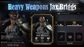 Heavy Weapons Jax Briggs! Mortal Kombat X (MKX) 1.3! IOS/Android Gameplay!