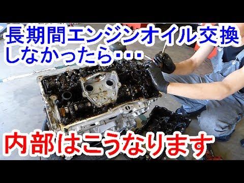 3万キロ以上エンジンオイル交換しなかったエンジン内部