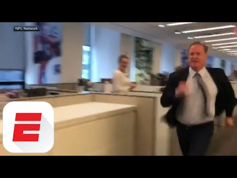 Roger Goodell runs office 40-yard dash in surprising amount of time | ESPN