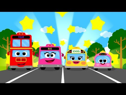 The Bus Family ♪ | Vroom Vroom ! | Nursery Rhymes Compilation 20m | Car Songs for Kids★TidiKids