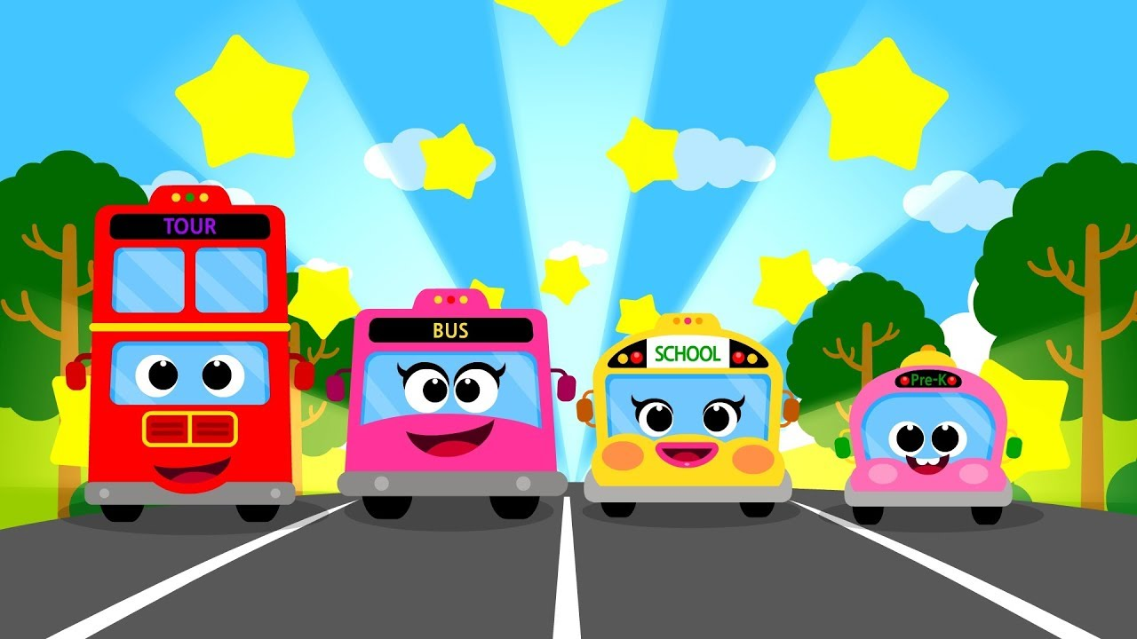 Download The Bus Family ♪ | Vroom Vroom ! | Nursery Rhymes Compilation 20m | Car Songs for Kids★TidiKids