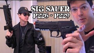Vendo Airsoft - SIG P226 e SIG P229 GBB FULL METAL - Legalizada Brasil