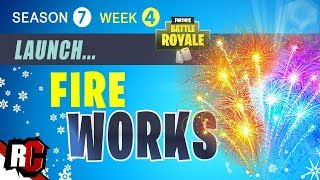 Fortnite WEEK 4 Firework Locations (How to Find 3 Fireworks and Launch them Season 7)
