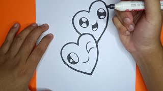 Download Cara Menggambar bentuk hati lucu / how to draw a cute heart