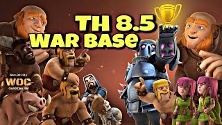 Base War Town Hall 8.5 Anti 3 Star ( No X-BOW) with Bomb Tower 2016 Update