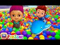Surprise Eggs Ball Pit Show for Kids to Learn ALL Colours | ChuChu TV Funzone 3D for Children