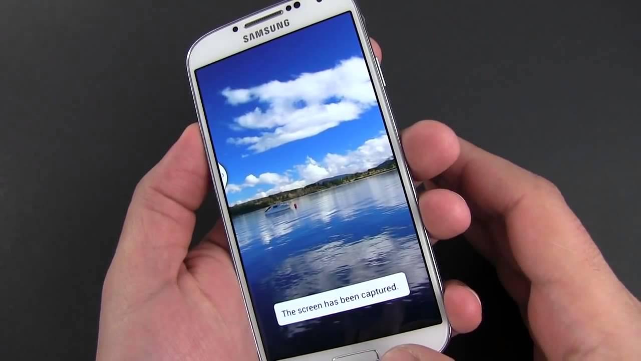 how to take a screenshot on samsung galaxy 4