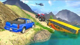 ट्रैक्टर पुल सिम्युलेटर ड्राइव: ट्रैक्टर गेम्स_ एंड्रॉइड गेमप्ले | खिलौनों का खेल | screenshot 1