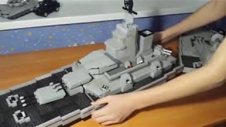 как сделать военный корабль из LEGO