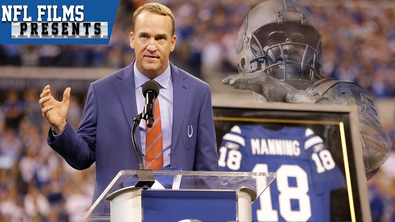 best loved af106 18238 Peyton Manning Returns to Colts For Statue Unveiling & Jersey Retirement |  NFL Films Presents