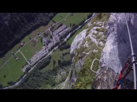 Mürren-Gimmelwald Via Ferrata - 600m drop part