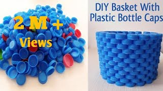 DIY Basket With Plastic Bottle Caps II Best Out of Waste II Bottle Cap Crafts Ideas