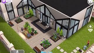 The Sims Freeplay double height mezzanine living designer house original house design YouTube