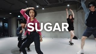 Lia Kim teaches choreography to Sugar by Maroon 5. Learn from instr...