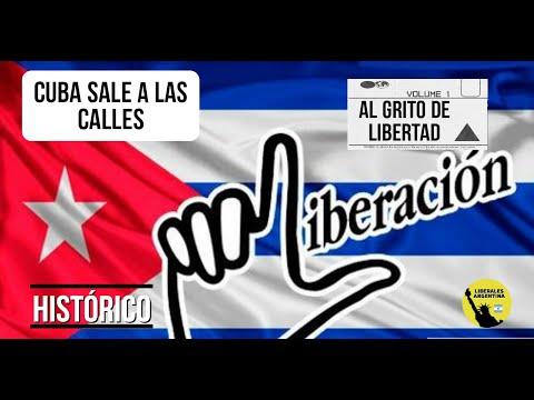 CUBA SALE A LAS CALLES AL GRITO DE LIBERTAD: HISTORICO