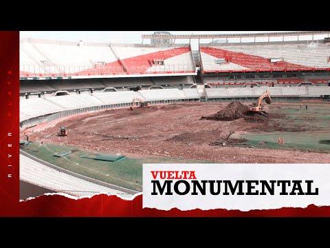 Impresionante video con el paso a paso del Monumental