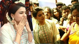 FLYING KISS : Samantha first visit to Chennai after marriage | SKLS GALAXY MALL