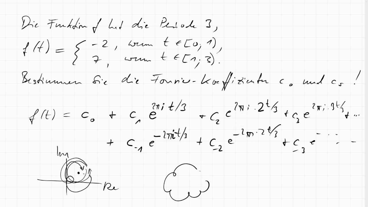 16f 1 Komplexe Fourier Koeffizienten Am Beispiel Einer Rechteckformigen Schwingung Youtube