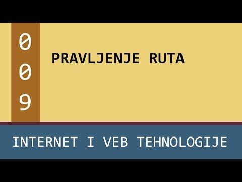 Praktikum - Internet i veb tehnologije - vežbe - 009 - Pravljenje ruta - rutiranje