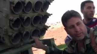 معرة النعمان لواء بيارق الحرية، كتيبة درع الأحرار تحضير راجمة الصواريخ