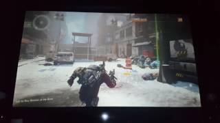 The Division PS4 Optoma GT1080 100""