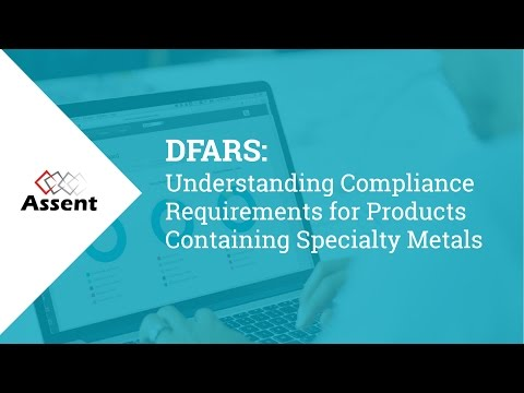[Webinar] DFARS Understanding Compliance Requirements for Products Containing Specialty Metals