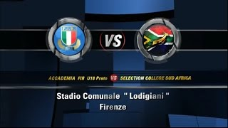 ACCADEMIA U18 VS SUDAFRICA COLLEGE