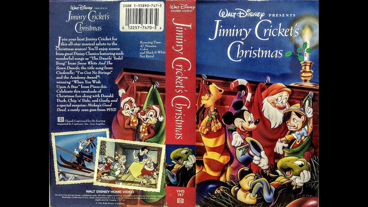 Opening to Jiminy Cricket\'s Christmas 1993 VHS - YouTube
