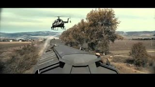 Hollywood 2018 stunts tren and helicoptor