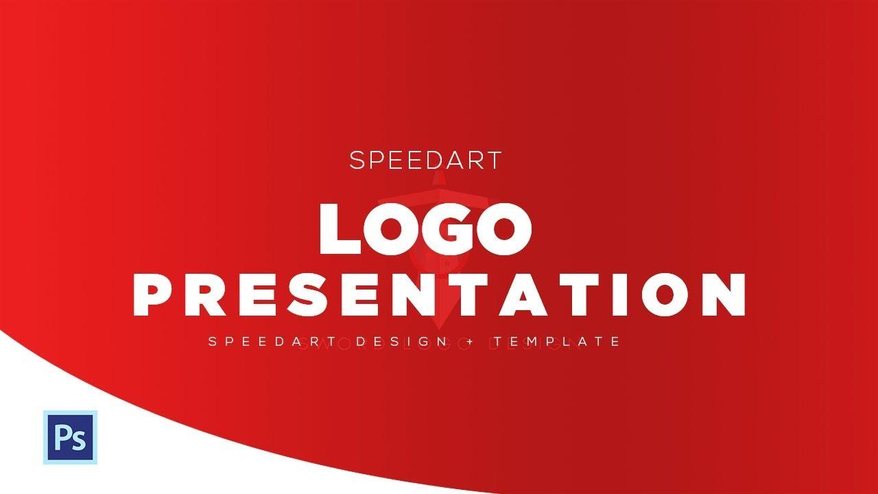 Photoshop Speedart Clean Logo Presentation Template