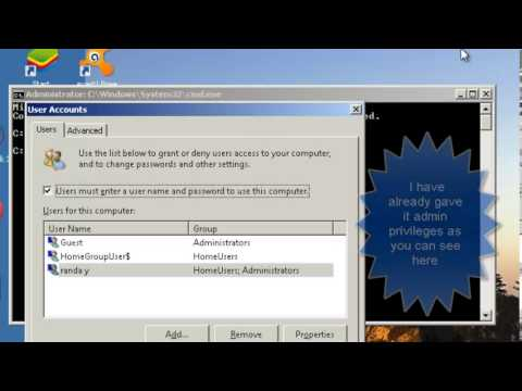 How to give the Guest Account admin rights on Windows 7