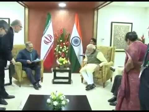 PM Modi meets Chief Advisor to President of Iran, Akbar Torkan in Gandhinagar