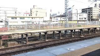 名古屋行き急行1201系+2800系到着 自動放送