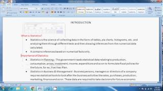 Introduction of Statistics Hindi