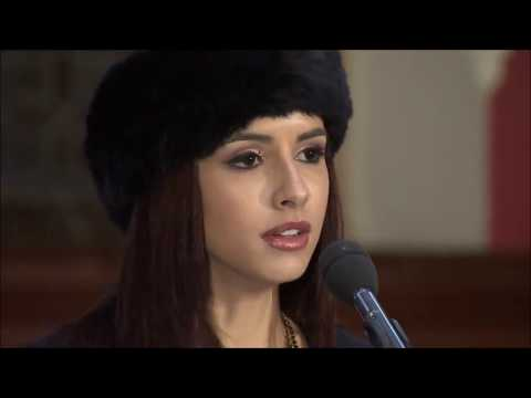 Miss Trinidad and Tobago at Miss World Oxford University Debate