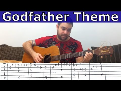 Fingerstyle Tutorial: Godfather Theme - Guitar Lesson w/ TAB
