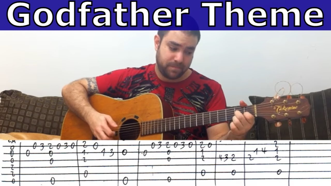 Fingerstyle Tutorial: Godfather Theme - Guitar Lesson w/ TAB - YouTube