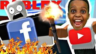 YOUTUBE DESTROYS FACEBOOK! - Roblox
